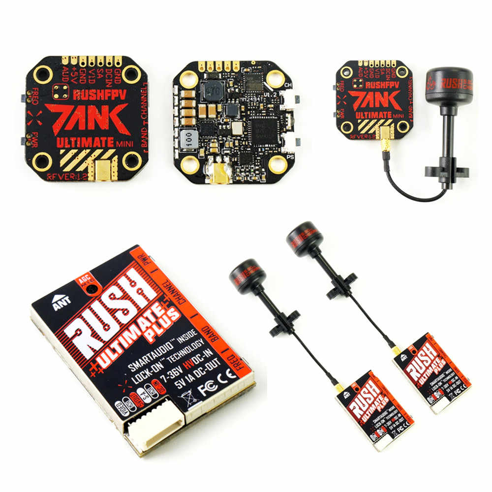 RUSH TANK Ultimate Mini/TANK PLUS VTX 5.8GHz 48CH 2-8s 800mW Video Zender Smart audio AGC MIC FPV Racing Drone
