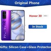 DHL entrega rápida Honor 30 5G teléfono celular Kirin 985 Android 10,0 de 6,53