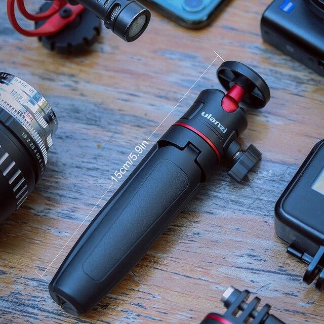 Ulanzi MT-08 DSLR SLR Telefono Vlog Estendere Treppiede 1.5KG Maxload Treppiede Regolabile 5