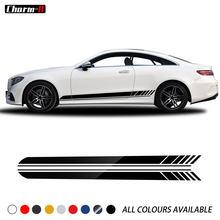 Autocollants à rayures latérales en vinyle, édition 1 C63 AMG, pour Mercedes Benz classe C W205 coupé berline W213 classe E