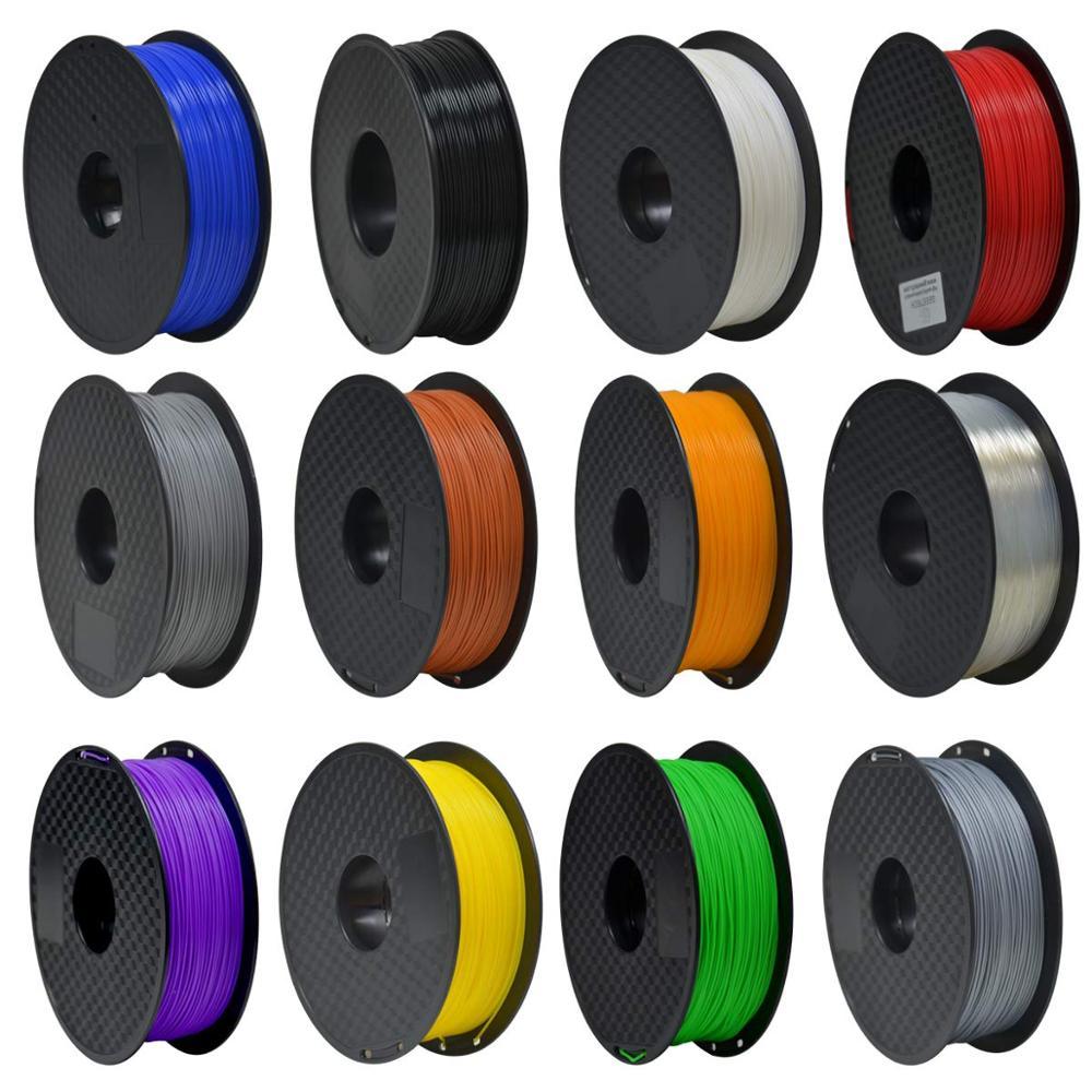 8 opção de cor filamento da impressora 3d 1 kg/rolo pla filamento/abs filamento 1.75mm materiais materiais materiais consumíveis plásticos impressora 3d n 3d caneta