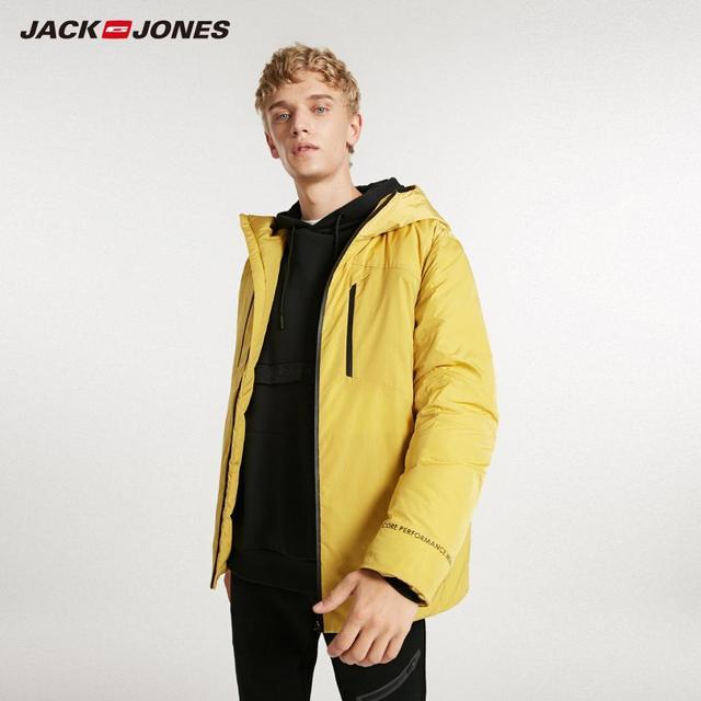 JackJones de invierno de los hombres casual brillante color con capucha por la chaqueta de deportes 218312532