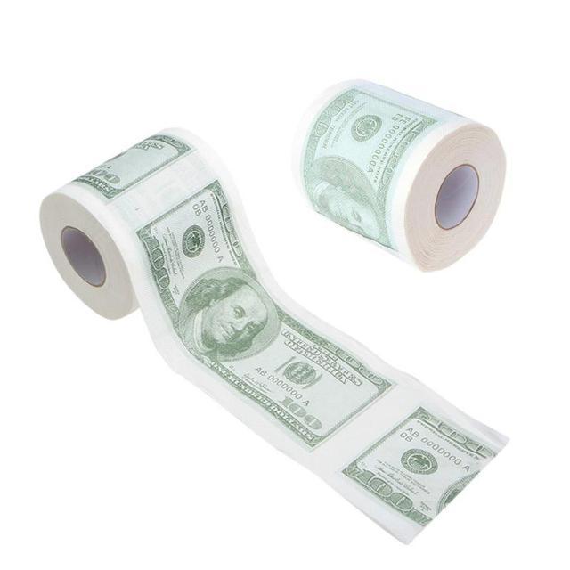$100 Dollar Humour Toilet Paper Bill Toilet Paper Roll Novelty Gag Gift Prank Funny Dollar Bill Toilet Roll Paper Dollar Bill 2