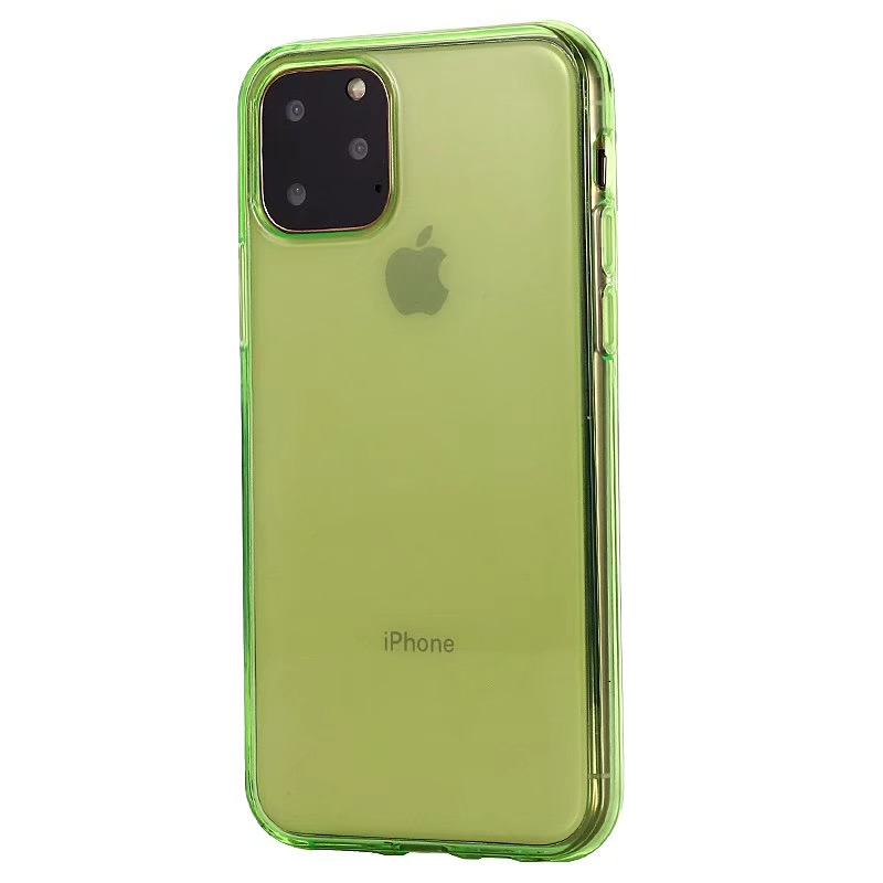 Comanke Transparent Candy Color Silicone Cases for iPhone 11/11 Pro/11 Pro Max 9