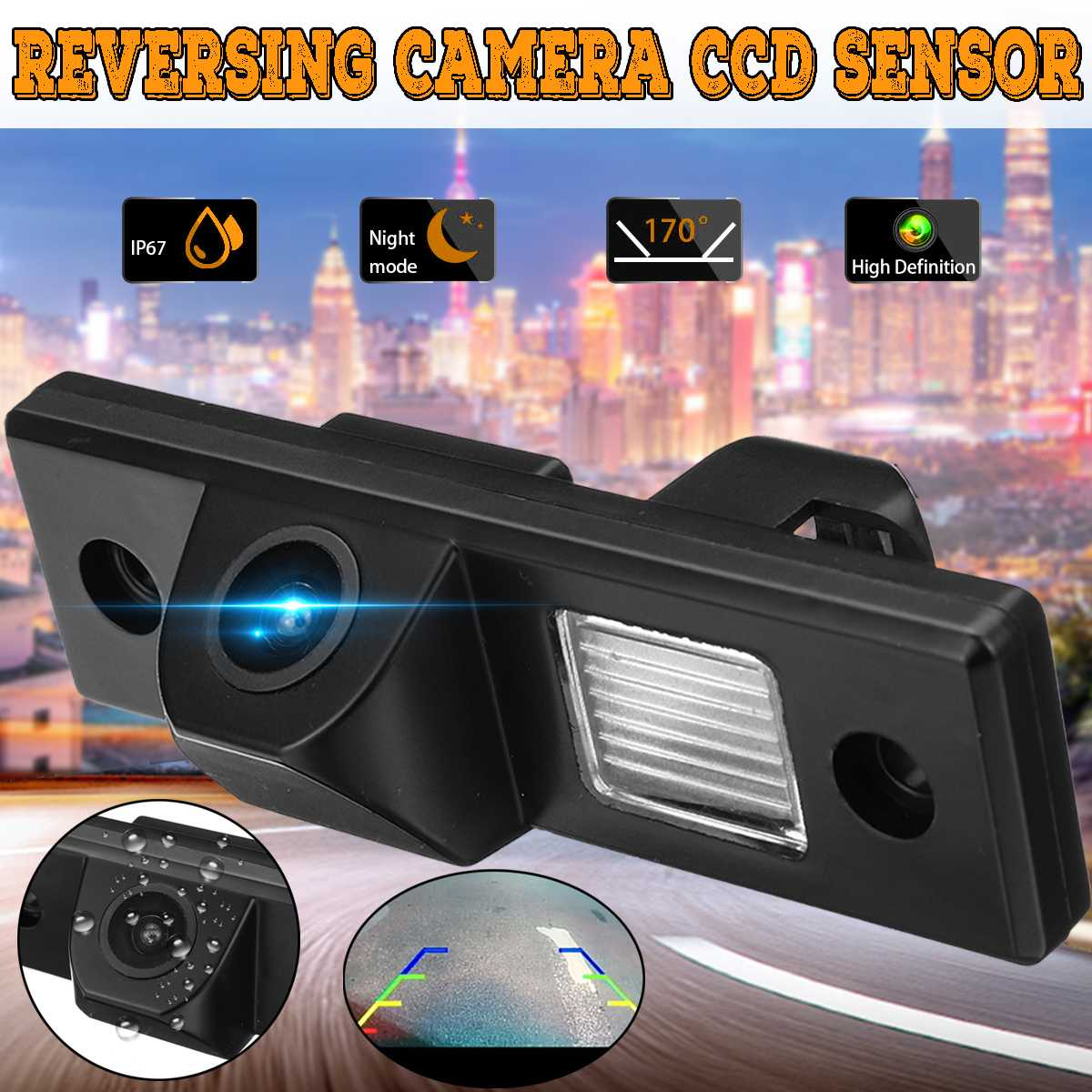 12V CCD Night Vision Vehicle Camera  For Chevy-Cruze 170 Degrees Lens Waterproof Car Rearview Rear View Reverse Backup Camera