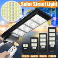 IP65 500W/800W/1000W/1200W LED Solar Lampe Wall Street Licht Super Helle radar PIR Motion Sensor Outdoor Garten Sicherheit Lampe