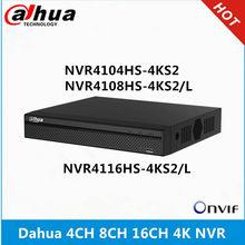 Dahua-grabador de vídeo de red 4k NVR NVR4104HS-4KS2, 4 canales, NVR4108HS-4KS2, L, 8 canales, NVR4116HS-4KS2 y L, 16 canales, sin POE