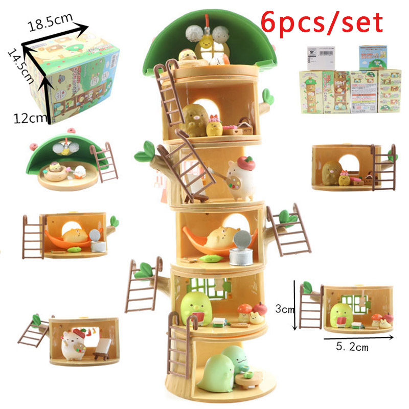 RE-MENT Miniatua Sumikko Gurashi stump house Full Set BOX of 6 packs NEW