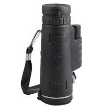 Telescopio óptico para deportes al aire libre, lente HD con Zoom negro, Monocular + trípode + Clip para Teléfono Universal Produ Vision Nocturna Militar