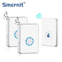 Lange Range Wireless Türklingel EU/UNS Stecker Lautsprecher Home Eintrag Alarm Wasserdichte Tür Glocke Nacht Licht 48 Klingelton