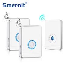 Long Range Wireless Doorbell EU/US Plug Loudspeaker Home Entry Alarm Waterproof Door Bell Night Light 48 Ringtone