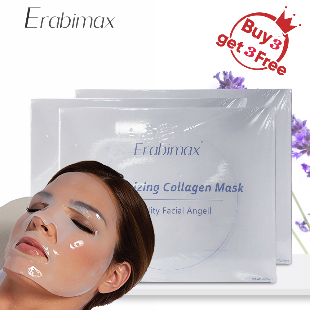 [Buy 3 Get 3 Free] Erabimax Collagen Facial Mask Face Mask Hydrating Moisturizing lift Anti Aging Oil Control