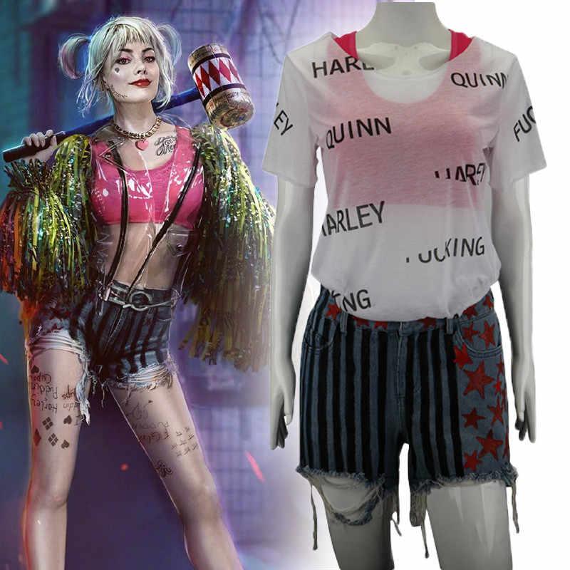 Halloween 2020 Premiere 2020 Premiere Movie Birds of Prey Harley Quinn Cosplay Costumes