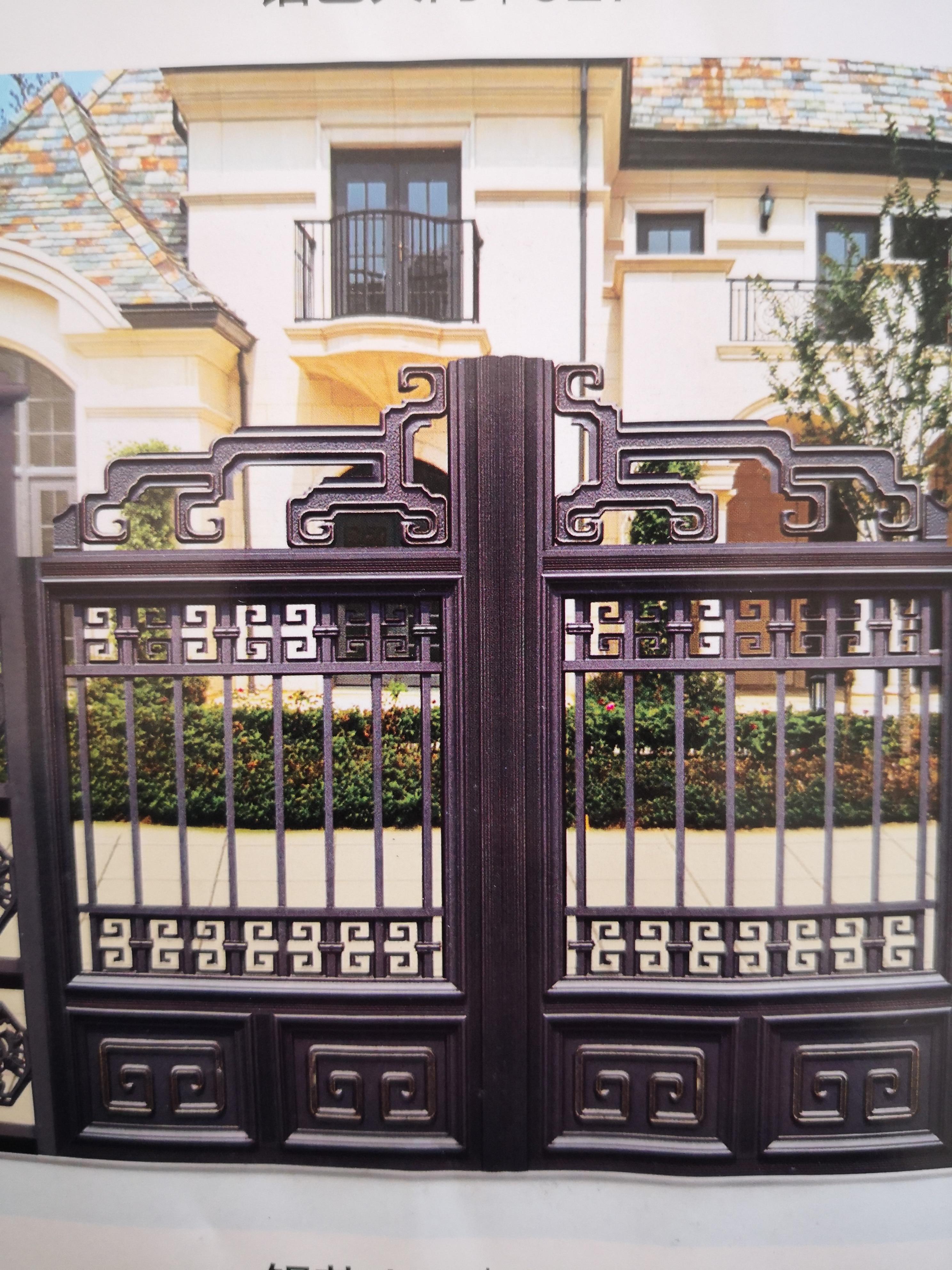 Shanghai Hench  Custom USA Australia Home Use Decorative Aluminium Driveway Gates Prices