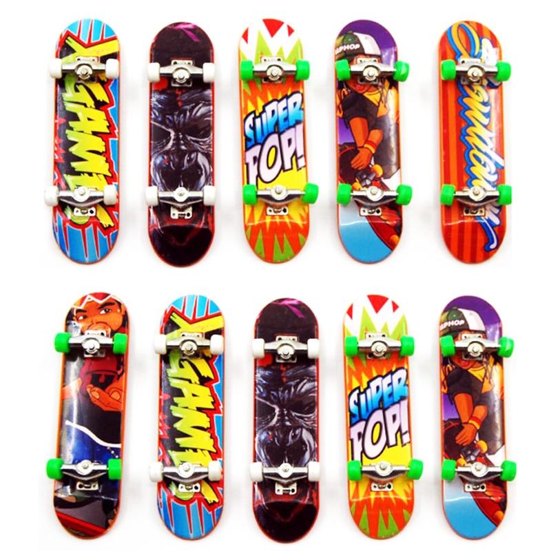 10 шт./лот алюминиевый сплав мини палец скейтборды Унти-гладкая кленовым грифом мальчиков пальчиковая игрушка скейт Tech грузовик вечерние св...