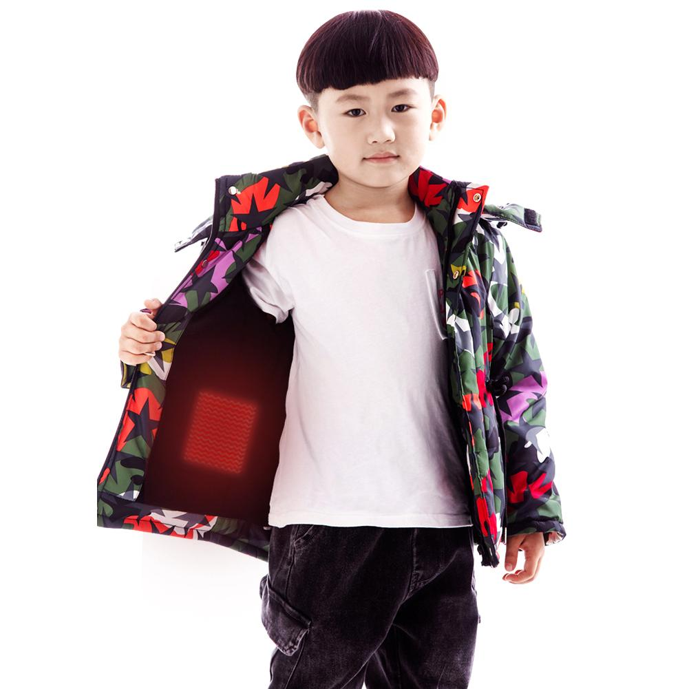 Fashion <font><b>Kids</b></font> Heated <font><b>Jacket</b></font> Heating Waistcoat USB Thermal Warm Cloth <font><b>Feather</b></font> Winter <font><b>Jacket</b></font> for Children Winter Outdoors Activitie image