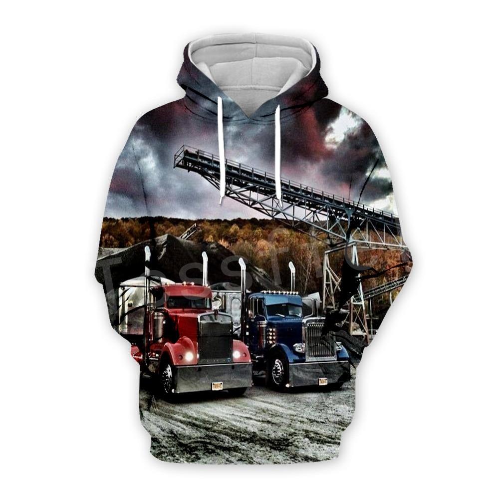 Tessffel Truck Trucker Driver Pullover Tracksuit New Fashion Crewneck MenWomen 3D Printed Sweatshirts/Hoodies/Zipper/jacket S-4
