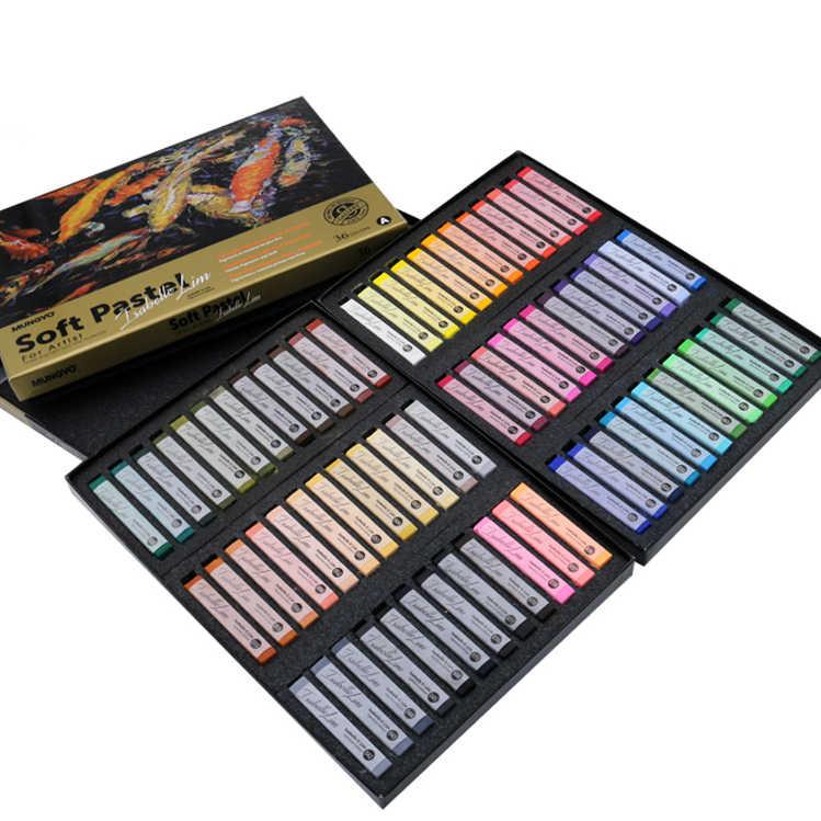 Weiche Pastell Stick Pulver Pinsel Stift Sets Buntstifte Malerei Mehrfarbigen Kreide Stick Zeichnung für Kunst, Malerei Materialien Liefert