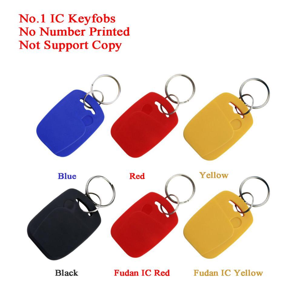 100pcs RFID Key Tag ID/IC Keychain Token Intercom Key 13.56MHz/125KHz Rewritable Garage/Gate/Hotel Access Control Dooe Lock Key