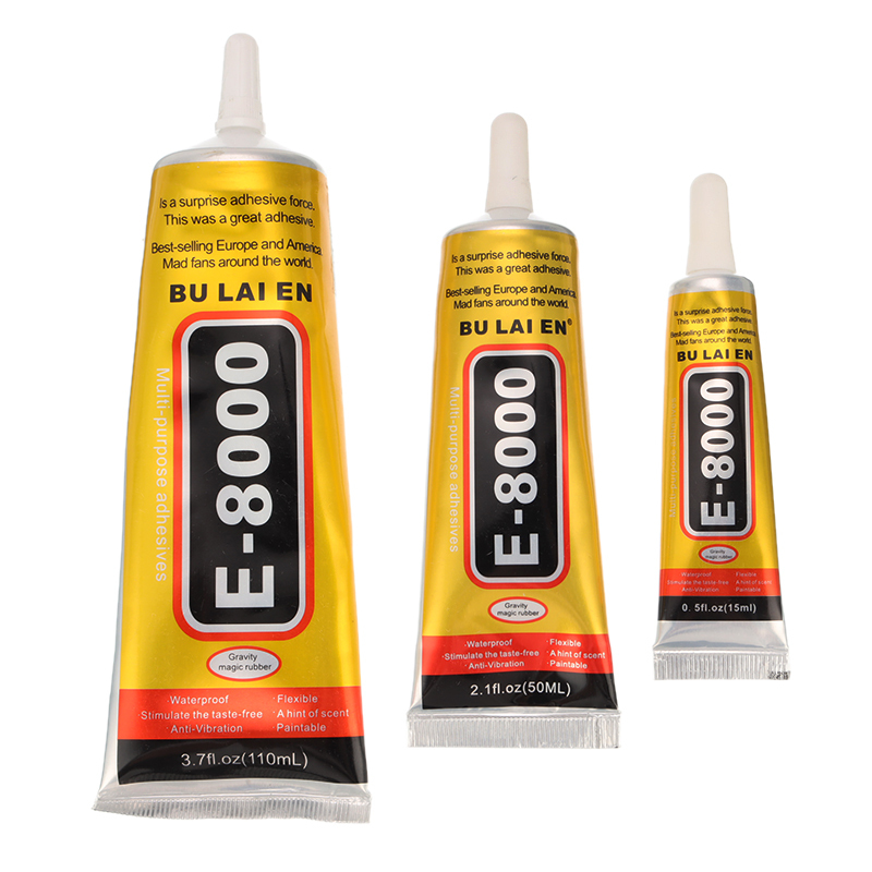 15ml/50ml/110ml E8000 Stick Drill Special Needle Glue Universal Diamond Jewelry Glue Household Glues