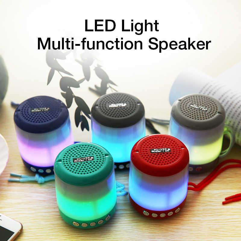 Kusdo Nirkabel Bluetooth Speaker LED Portabel Boom Box Outdoor Bass Kolom Subwoofer Kotak Suara Mendukung Tf Usb Subwoofer
