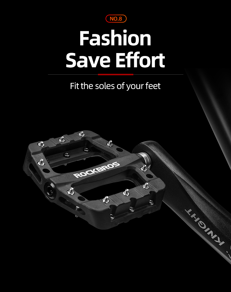 Black Bicycle Pedal 4 bearing sealed one piece fabrication MTB pedal