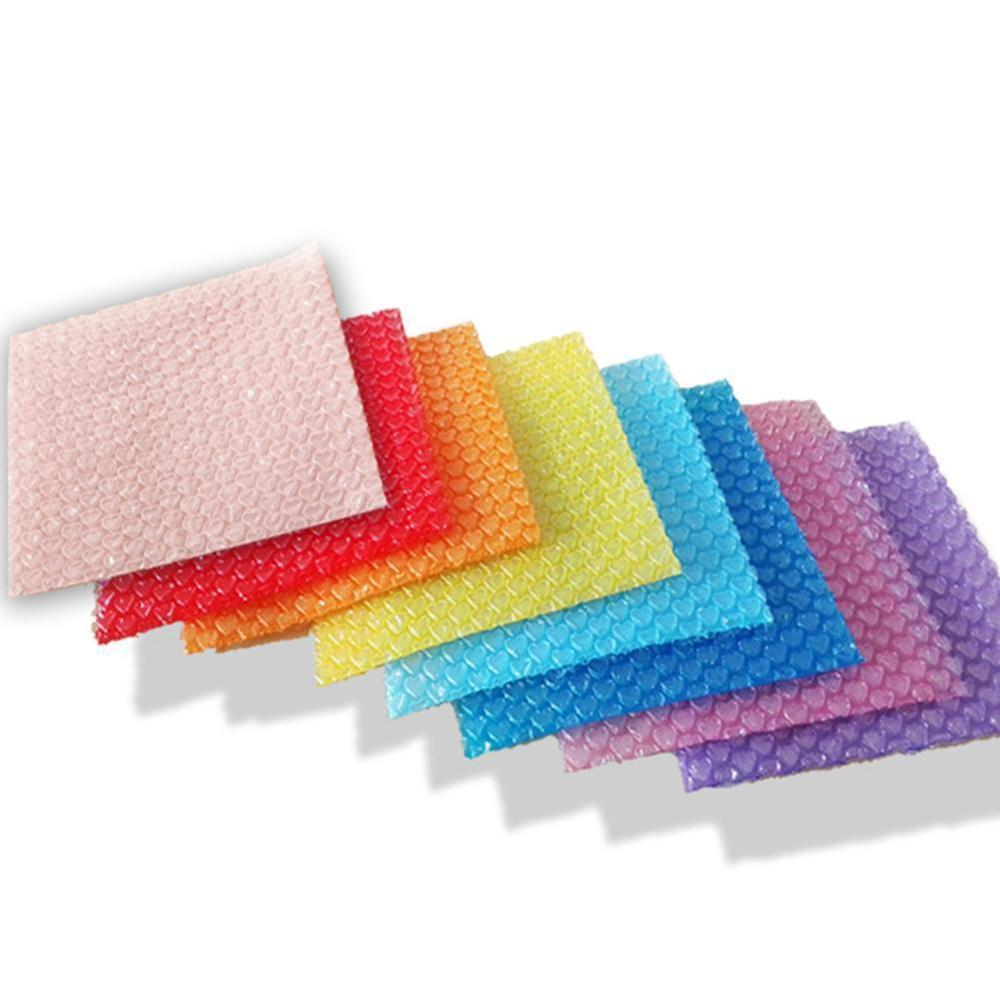 50Pcs Heart-shaped Bubble Bags Inflatable Foam Wrap For Packing Material Gift Decoration 10*10cm (3.94*3.94')