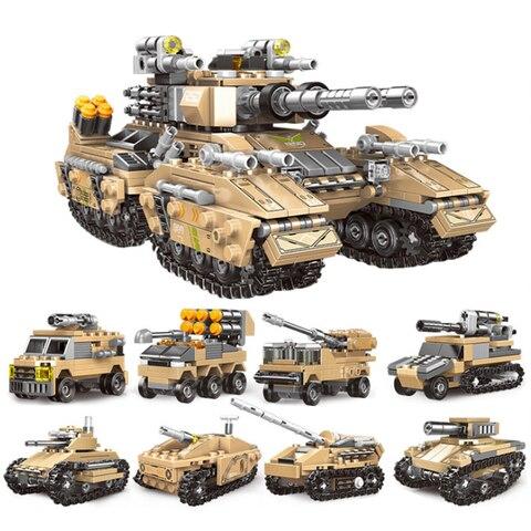1040 pces 8 em 1 imperador tanque pequena particula bloco de construcao brinquedo educacional conjunto