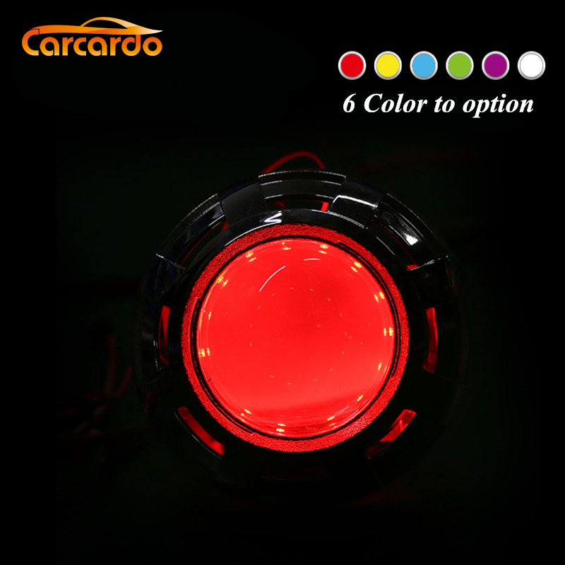 Carcardo 2PCS Faros de coche DIY Devil Eyes LED Halo Rings Kit 360 grados Shine Retrofit Demon Eyes Lámpara de luces LED