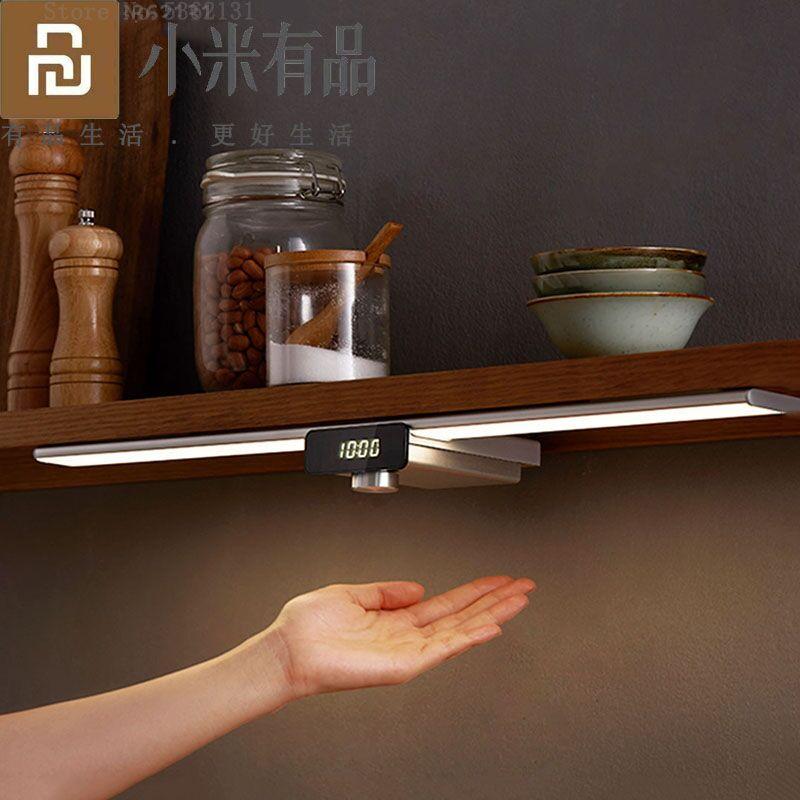 Youpin EZVALO светодиодный датчик движения под шкафом светильник беспроводной Интеллектуальный Ночной светильник лампа затемнения для кухонног