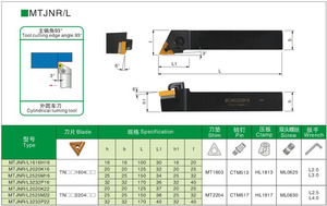 Image 2 - Soporte MTJNR2525M22, soporte giratorio de arco mecánico torneado externo, cara, torno, CNC, para TNMG2204