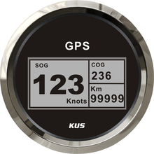 Абсолютно новые 85 мм спидометры gps 12 v/24 v 0-999knots цифровые спидометры SOG COG с gps антенной для авто лодки CCSB