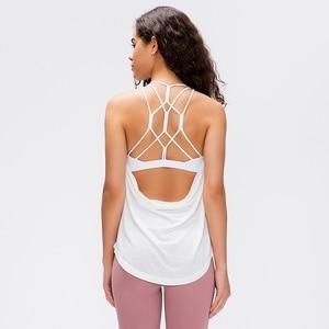 Женский спортивный жилет NWT, нательные блузки без рукавов со съемными вкладышами для занятий спортом в спортзале, тренировок
