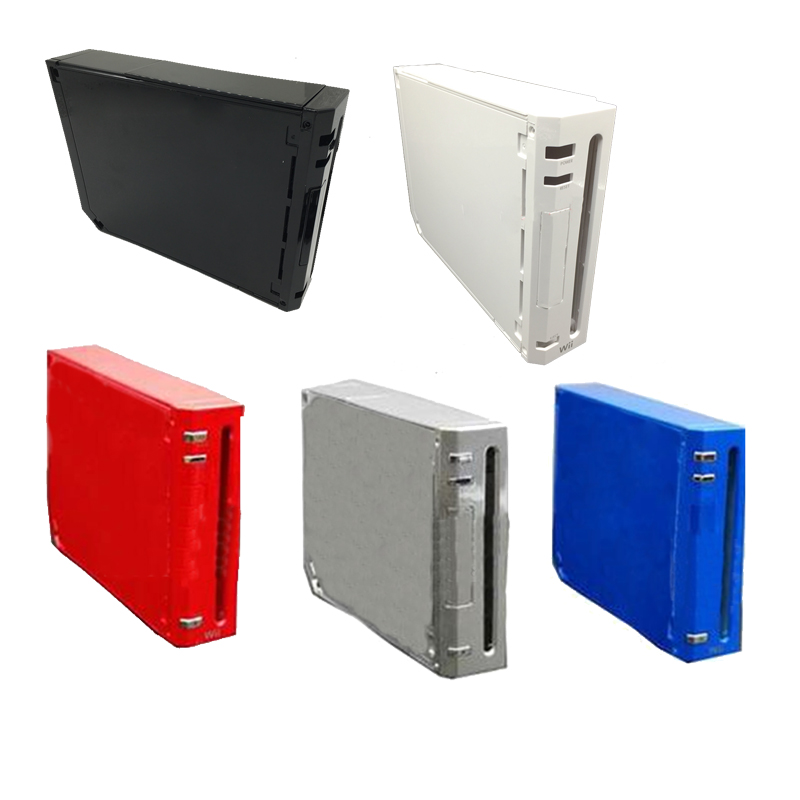 Full Case Cover Housing Shell With Button For Nintend Wii With Retail Packing Cover Housing Case Shell For Wii Console