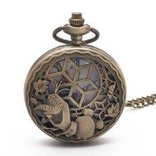 Fob Watch Necklace Steampunk Pocket Pendant-Chain Gifts Quartz Retro Vintage Princess