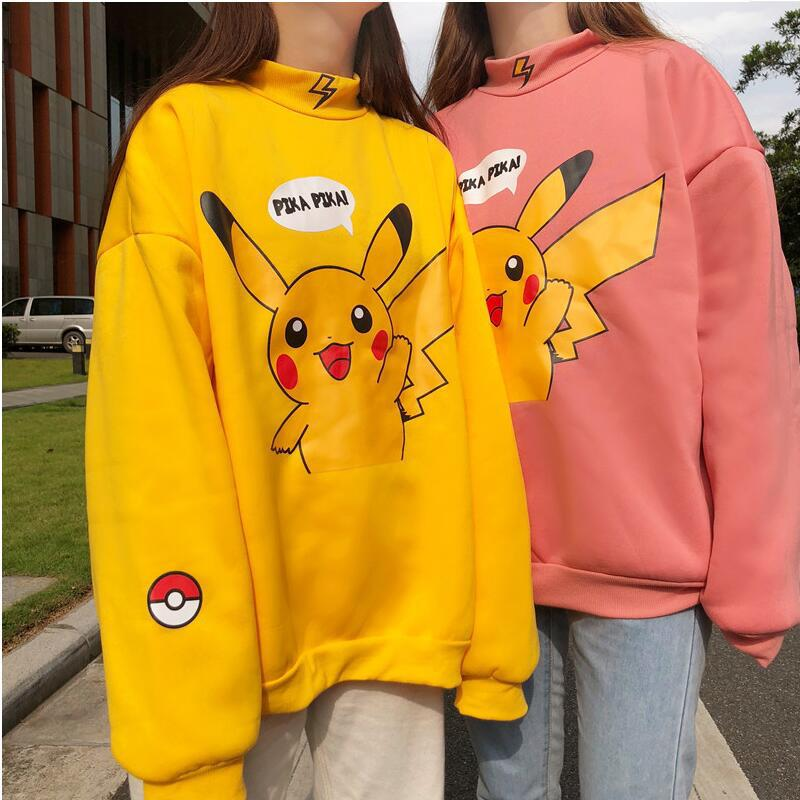 Cartoon Cute 2020 New Design Hot Sale Hoodies Sweatshirts Women Casual Kawaii Harajuku Sweat Girls European Tops Korean