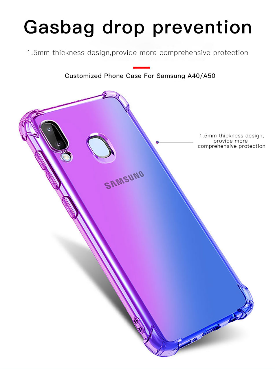 !ACCEZZ Colorful For Samsung A40 A50 Soft Phone Case Protection Back Cover For Galaxy A50 A40 TPU Thin Phone Shell Fitted Case (2)