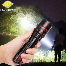 High Power XHP50.2 LED Flashlight Xlamp Hunting L2 Waterproof Torch 5 Modes Lanterna USB Rechargeable Tactical Light For Outdoor