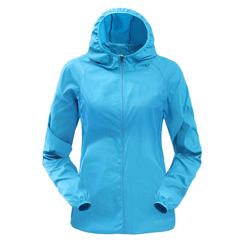 Loozykit Women Running Jackets Hooded Quick Dry Thin Slim Gym Jackets Casual Solid Windbreaker Hiking Jackets Sportswear Clothes