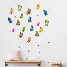 2021 decoração do quarto pequena borboleta adesivos de parede diy cor tamanho pequeno borboleta decoração para casa nove pequena borboleta adesivos