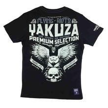 Yakuza Premium T-Shirt 2309   YPS Black Mens Flying Riot- show original titleFashion Men Printed T Shirts