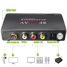 TV Alıcısı Kolay Kullanım Analog Modülatör Ev Kullanımı Dönüştürücü RF AV Istikrarlı Sinyal Yüksek Verimli uydu TV alıcısı