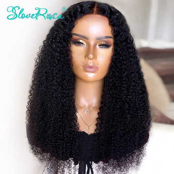 13x4 Mongolian Remy Lace Front Wigs 130% Density Afro Kinky Curly Human Hair Wigs Pre Plucked Bleached Knots Slove Rosa