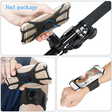 Mobile Phone Sports Armband Wrist Bag Rotatable Key Holder Phone Armband for Hiking Biking Walking Elastic Band Wristlets 2020