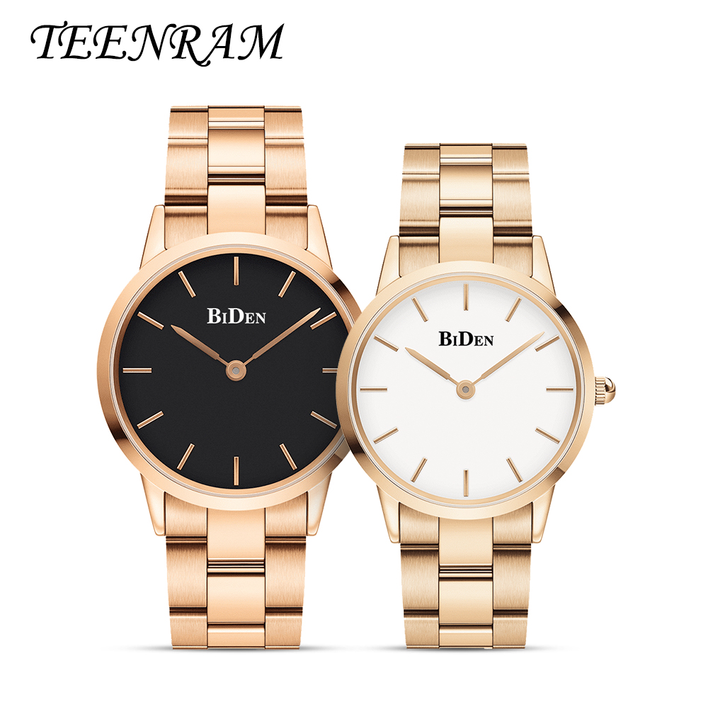 TEENRAM Couple Watch For Lovers Gift Paired Companion Wristwatch Women Popular Parejas Quartz Sports Clock Men Fashion    Simple