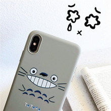 Japanese Cartoon Totoro cat Simple cute Anime Phone case silicone cover for coque iPhone 7 Plus 6 8 6s X XR xs max