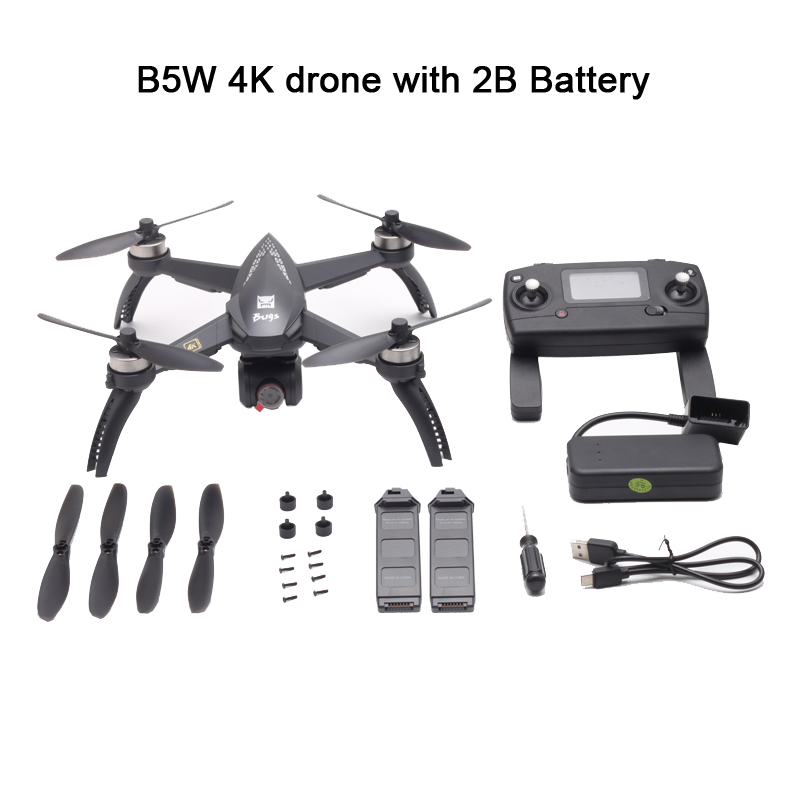 MJX B5W GPS Drone 4K HD Camera Brushless Quadcopter Motor 5G WiFi FPV RC Profissional Drone Helicopter Auto Return 20 Mins Drone
