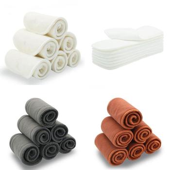 5 sztuk zmywalne pieluchy wielokrotnego użytku wkładki bambusowe bawełniane elastyczne wkładki dopalacze wkładki na pokrowiec na pieluchy dla niemowląt pieluchy węgiel wkładka tanie i dobre opinie Unisex 3-15 kg CN (pochodzenie) 7-12m 13-24m 25-36m inne Pielucha 1000 Bamboo Charcoal Insert Cloth Diaper Bamboo Charcoal Insert
