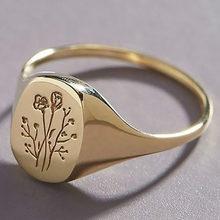 2021 neue Rose Oval Ringe Für Frauen Gold/Silber Farbe Größe 6-10 Vintage Puck Rock-Finger-Ring
