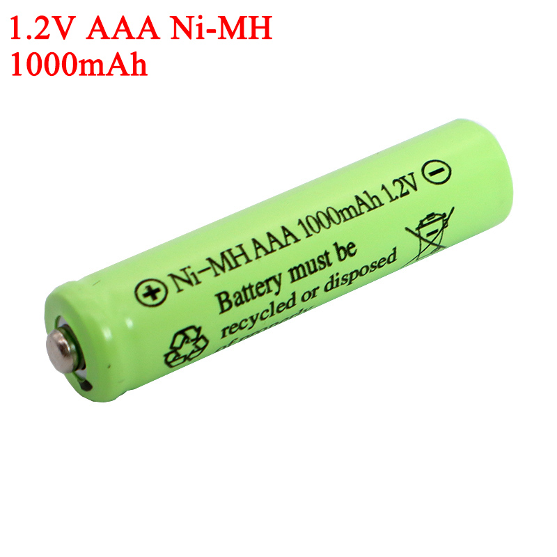 AAA <font><b>1.2v</b></font> <font><b>NI</b></font>-<font><b>Mh</b></font> Batteries 1000mAh Rechargeable <font><b>ni</b></font> <font><b>mh</b></font> Battery <font><b>1.2V</b></font> <font><b>Ni</b></font>-<font><b>Mh</b></font> aaa For Electric remote Control car Toy RC ues image